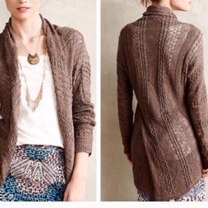 Anthropologie Switch Stitch Long Cardigan Small